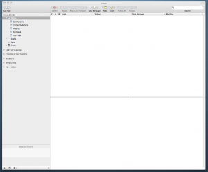 screenshot of my mail.app inbox