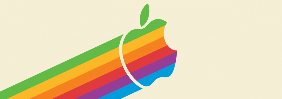 Retro vintage apple computer wallpaper
