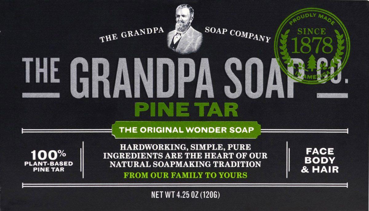 Grandpa's Wonder Pine Tar Soap packaging